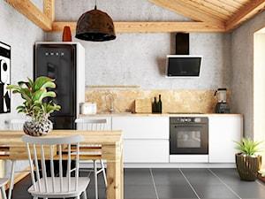 Loftowa Kuchnia A W Niej Okap DAGERO 60.1 BLACK/WH
