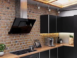 Okap Lagardio Black W Stylowym Loftowym Wnętrzu