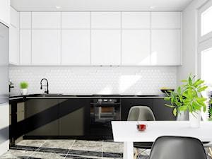 Biała minimalistyczna kuchnia a w niej Floweri White 60
