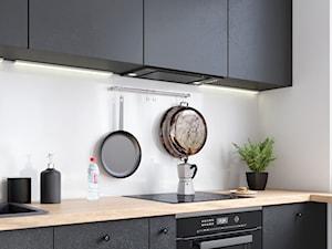 Minimalistyczna Kuchnia Z Okapem DESOLERO 60.1 BLACK