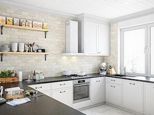 Klasyczna elegancka kuchnia z okapem Nidaro 60.3 White - zdjęcie od GLOBALO.pl