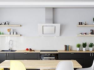 Okap Lagardio 90 White w przestronnej jasnej kuchni