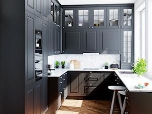 Biały okap Wineter White w klasycznej kuchni