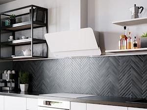 Okap Wrotma 90 White w eleganckiej aranżacji kuchennej
