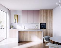 Piękna nowoczesna kuchnia glamour ze złotym okapem - zdjęcie od GLOBALO.PL - Ciche i wydajne okapy kuchenne - Homebook