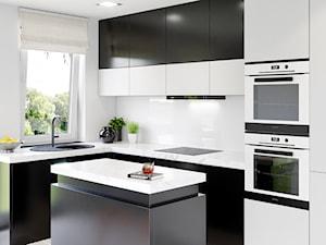 Biało-czarna kuchnia z okapem Kasperio Black