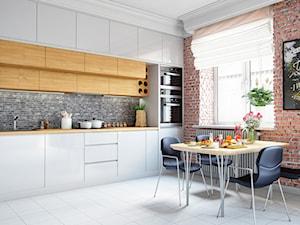 Okap Delico White w funkcjonalnej miejskiej kuchni