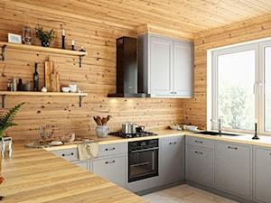 Czarny Okap Verta W Przytulnej Drewnianej Kuchni
