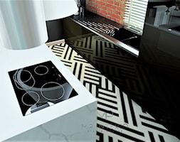 OLD TIMES - Średnia zamknięta czarna kuchnia dwurzędowa z oknem, styl eklektyczny - zdjęcie od MP Interio