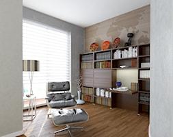 Mieszkanie w Krakowie - Średnie beżowe szare biuro kącik do pracy, styl tradycyjny - zdjęcie od DGMarchitekci