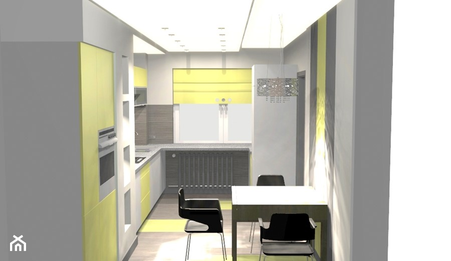 Kuchnia Szaro Limonkowa Zdjęcie Od Unicad Design Homebook