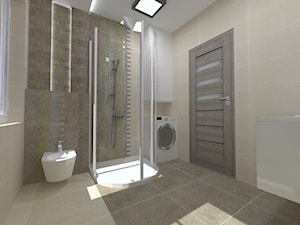 łazienka Lemone stone Tubadzin - Średnia łazienka w bloku w domu jednorodzinnym z oknem, styl nowoczesny - zdjęcie od EŻ ARCHITECT Pracownia architektoniczna Ewelina Żuchowska