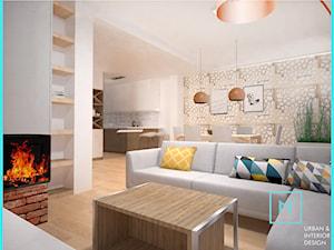 Drewno i cegła - Ciepłe mieszkanie w szeregowcu