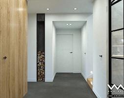 projekt wnętrz domu   Warszawa - Mały biały hol / przedpokój, styl nowoczesny - zdjęcie od WMA Design - Homebook