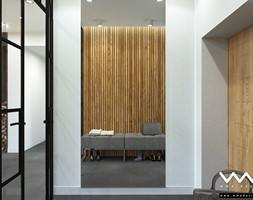 projekt wnętrz domu   Warszawa - Średni biały hol / przedpokój, styl nowoczesny - zdjęcie od WMA Design - Homebook
