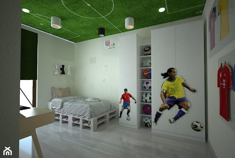 Piłkarski pokój chłopca - Pokój dziecka - zdjęcie od Latre DESIGN