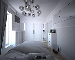 Mieszanka stylów z domieszką medzi w jednym mieszkaniu - Średnia szara sypialnia małżeńska, styl włoski - zdjęcie od Latre DESIGN