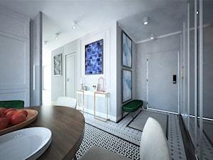 Mieszkanie na Bemowie z akcentem Indigo - Hol / przedpokój, styl włoski - zdjęcie od Latre DESIGN