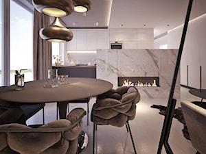 MOCO In5 - Średnia jadalnia w salonie, styl nowojorski - zdjęcie od Architekt Rafał Leśniczak | Ekskluzywne Projekty Wnętrz | Poznań | Polska