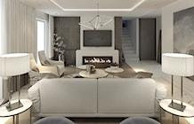 Salon styl Nowojorski - zdjęcie od MOCO Architecture