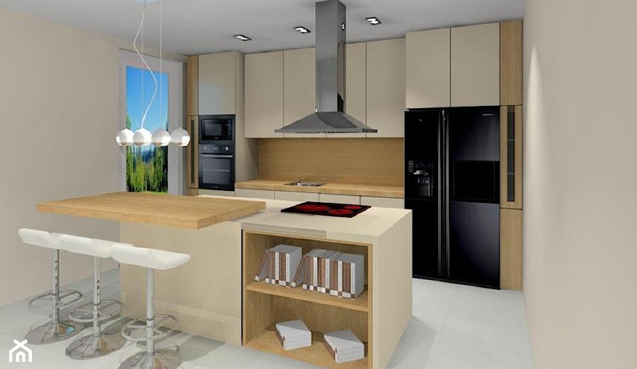 Projekt Kuchni Z Wyspą Zdjęcie Od Wystrój Wnętrz Homebook