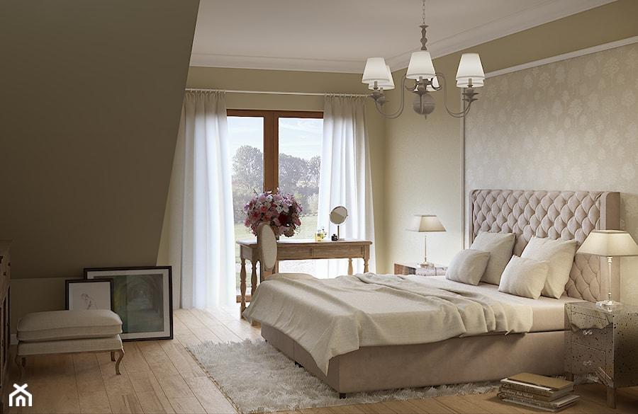 Kremowa sypialnia