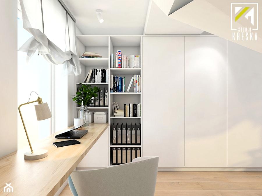 Projekt aranżacji wnętrz domu parterowego w Gostyniu pod Głogowem - Biuro - zdjęcie od kreska.studio