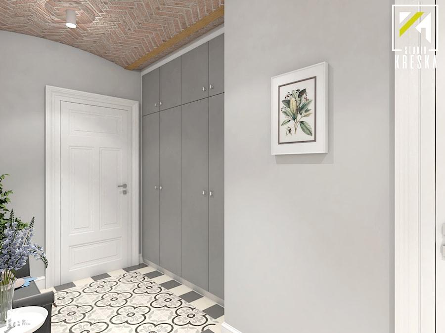 Projekt aranżacji wnętrz domu parterowego w Gostyniu pod Głogowem - Hol / przedpokój - zdjęcie od kreska.studio