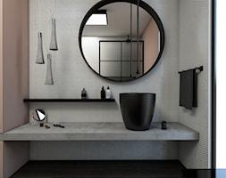 Flash&DQ Best Interior Contest 2017 - Mała brązowa szara łazienka na poddaszu w bloku w domu jednorodzinnym bez okna, styl industrialny - zdjęcie od Flash&DQ