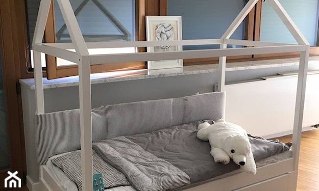 domek łóżeczko białe