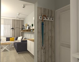 Salon w stylu rustykalnym - Mały szary hol / przedpokój, styl prowansalski - zdjęcie od mj-atelier.com