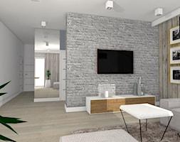 Projekt Klara - Średni szary biały salon, styl nowoczesny - zdjęcie od mj-atelier.com