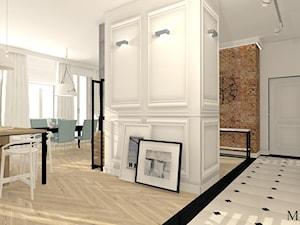 Apartament z XIX w. - Średni szary hol / przedpokój, styl klasyczny - zdjęcie od mj-atelier.com