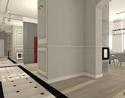 Cegła i Smeg - Średni szary hol / przedpokój, styl klasyczny - zdjęcie od mj-atelier.com