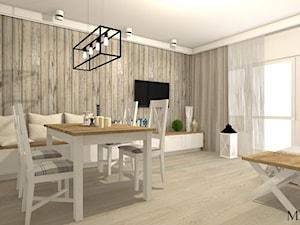Salon w stylu rustykalnym