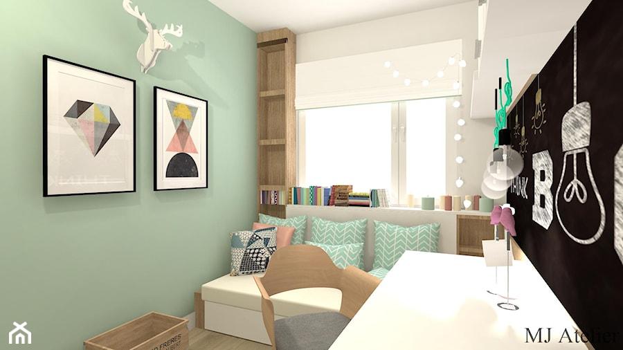 Aranżacje wnętrz - Pokój dziecka: Pokój Ady - Mały biały miętowy zielony czarny pokój dziecka dla dziewczynki dla ucznia dla nastolatka, styl prowansalski - mj-atelier.com. Przeglądaj, dodawaj i zapisuj najlepsze zdjęcia, pomysły i inspiracje designerskie. W bazie mamy już prawie milion fotografii!