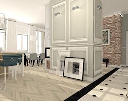 Słoneczna kamienica - Średni szary hol / przedpokój, styl klasyczny - zdjęcie od mj-atelier.com