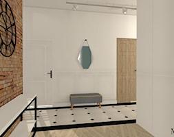 Apartament z XIX w. - Duży biały niebieski hol / przedpokój, styl klasyczny - zdjęcie od mj-atelier.com