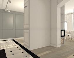 Kamienica Bydgoszcz - Średni biały szary hol / przedpokój, styl prowansalski - zdjęcie od mj-atelier.com