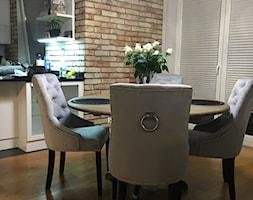 Sklep w Gdyni - Mały szary salon z kuchnią z jadalnią, styl nowojorski - zdjęcie od MODERN CLASSIC HOME - Homebook