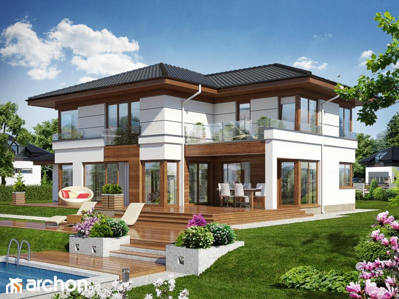 Duże jednopiętrowe domy jednorodzinne murowane z czterospadowym dachem - zdjęcie od Asia Wrobel