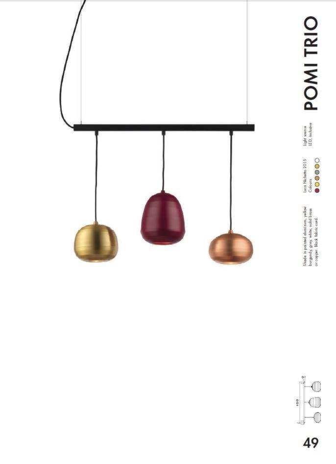 lampa ZERO Lighting POMI TRIO - zdjęcie od MAdeco - Homebook