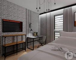 Mieszkanie z loftowym klimatem, Kraków - Sypialnia, styl industrialny - zdjęcie od InnerForms - Homebook