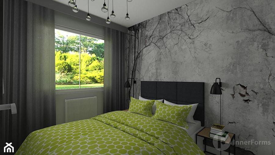 Mieszkanie w stylu loftowym - Sypialnia, styl industrialny - zdjęcie od InnerForms