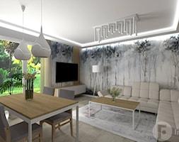 Salon z osobną kuchnią, Nowy Sącz - Salon, styl nowoczesny - zdjęcie od InnerForms - Homebook