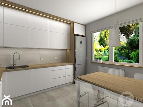 Aranżacje wnętrz - Kuchnia: Salon z osobną kuchnią, Nowy Sącz - Kuchnia, styl nowoczesny - InnerForms. Przeglądaj, dodawaj i zapisuj najlepsze zdjęcia, pomysły i inspiracje designerskie. W bazie mamy już prawie milion fotografii!
