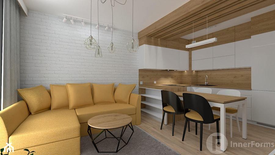 Mieszkanie w Modlnicy pod Krakowem - Kuchnia, styl skandynawski - zdjęcie od InnerForms