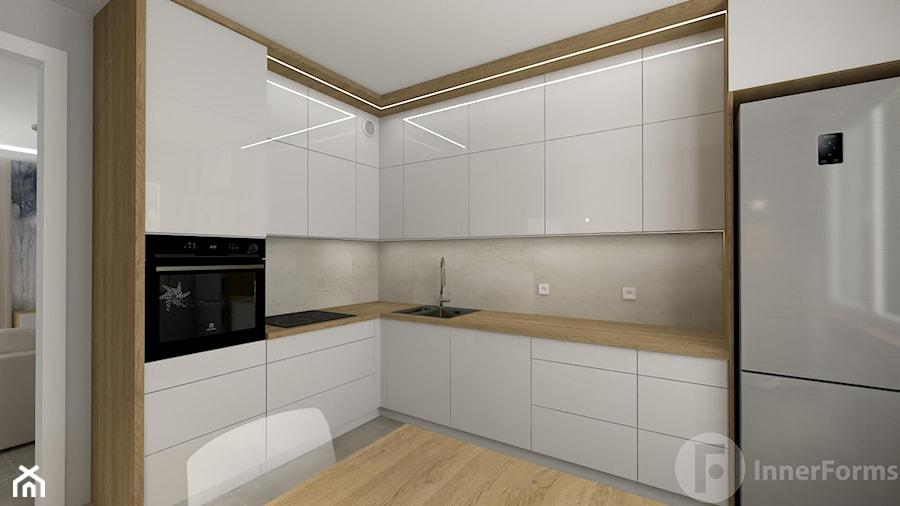 Salon z osobną kuchnią, Nowy Sącz - Kuchnia, styl nowoczesny - zdjęcie od InnerForms
