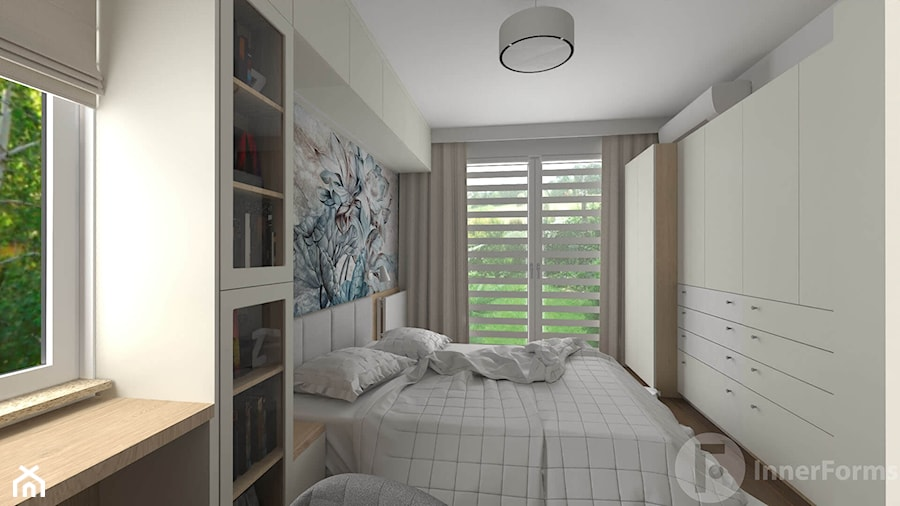 Metamorfoza sypialni - Sypialnia, styl nowoczesny - zdjęcie od InnerForms
