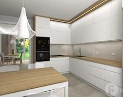 Salon z osobną kuchnią, Nowy Sącz - Kuchnia, styl nowoczesny - zdjęcie od InnerForms - Homebook